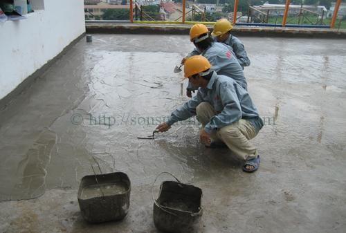 Thợ chống thấm nhà ở tại tphcm - Chống thấm sân thượng- Nhà vệ sinh - Dịch vụ chống dột mái tôn
