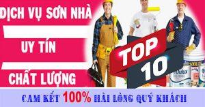 Top 10 dịch vụ sơn nhà uy tín