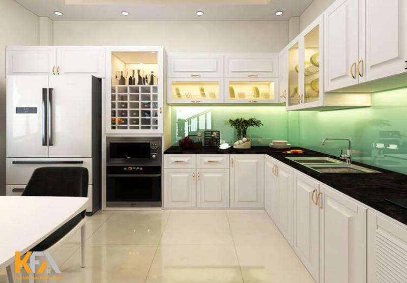 Phòng bếp cần được bố trí khoa học, kín đáo, gọn gàng và sạch sẽ