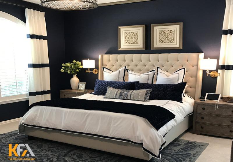 Phòng ngủ master được chăm chút kỹ lưỡng đến từng góc nhỏ