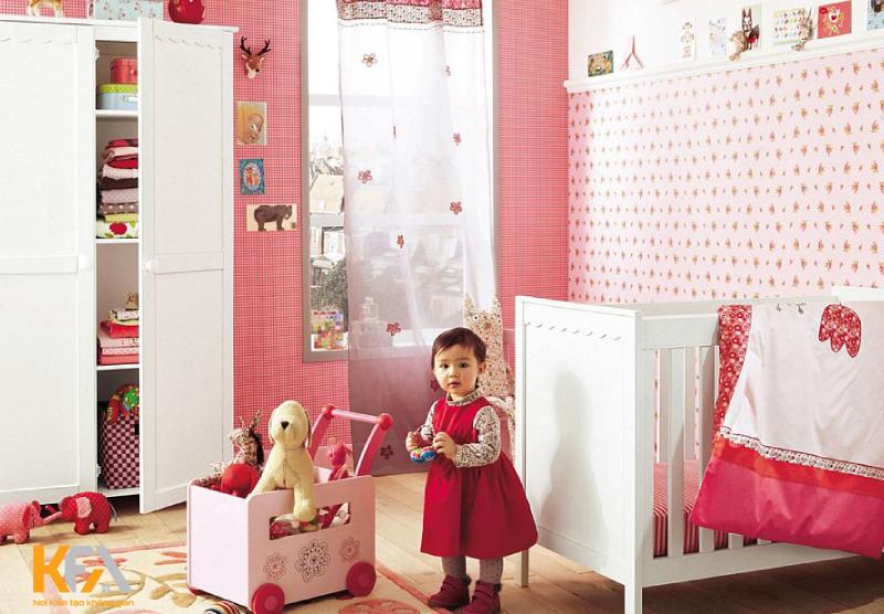 Phòng ngủ của bé gái cần có sự ngọt ngào