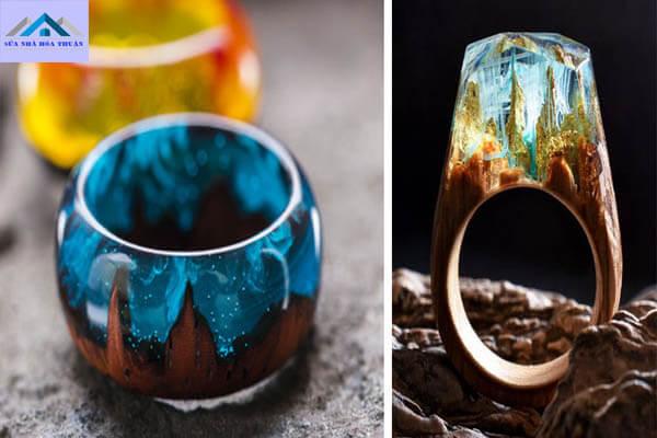 Nhẫn đeo tay chế tạo từ resin